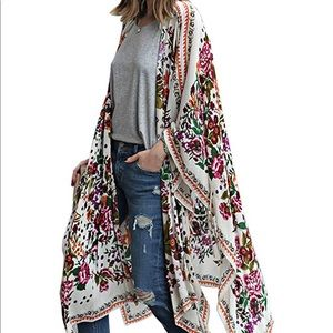floral beach kimono- one size fits most